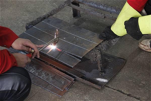 电焊之气割技术展示视频
